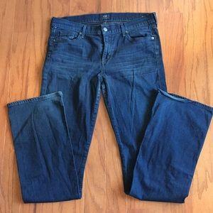 AMBER Medium Rise Boot Cut Denim Jeans COH 32 Blue